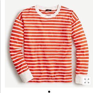 J.Crew Ringer Long Sleeve Ringer Tshirt